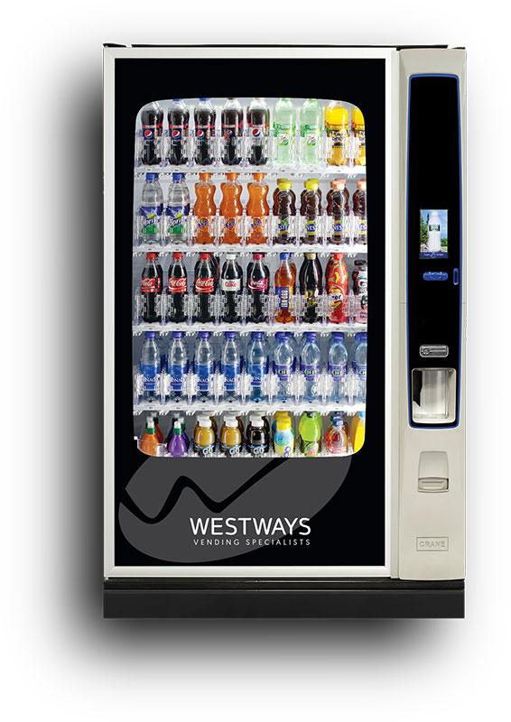 Large Cold Drink Vending Machine Rental